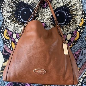 NWT Coach Edie 33547 Pebbled Refined Leather Bag